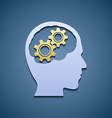 Human head with gears vector image vector image