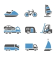 Transport Icons - A set of third vector image vector image