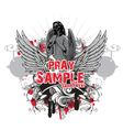 dark gothic t-shirt design vector image