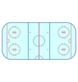 Ice hockey rink field playing infographics flat vector image