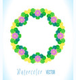 bright watercolor frame vector image