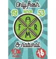 Farm colorful banner vector image