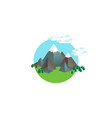 isometric hill vector image