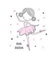 prima ballerina surface design for kids vector image
