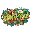 Thank You hand lettering and doodles elements vector image