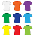 Mens t shirts design template set vector image