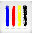 Strokes of a Paint Brush vector image vector image