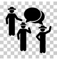 gentlemen discussion icon vector image