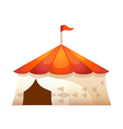 icon tent of amusement park vector image vector image