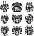 set of heraldic silhouettes No4 vector image vector image