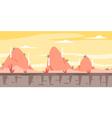 Cartoon Hills Game Background vector image