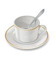 Empty cup vector image