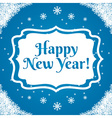 winter label with text New Year vector image