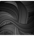 Black striped waves abstract pattern design vector image