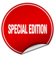 special edition round red sticker isolated on vector image