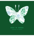 abstract blue and green leaves butterfly vector image