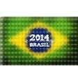 Background with Brasil Flag 2014 Brasil Lettering vector image