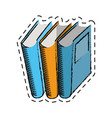 cartoon book library read learn vector image
