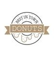 circle ring donuts design company vector image