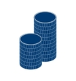 coin stack money gold pile vector image