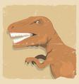 grunge dinosaur background vector image