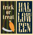 trick or treat halloween set vector image