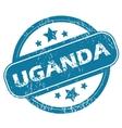 UGANDA round stamp vector image