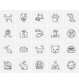 Pets sketch icon set vector image
