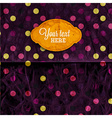 Retro Polka Dot Paper Textured Background vector image
