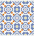 ceramic blue and white mediterranean seamless tile vector image