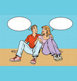 young couple man and woman talking vector image
