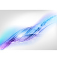 background blue wave white horizontal vector image vector image