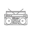 retro style audio tape recorder ghetto boom box vector image