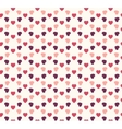 Seamless geometric hearts pattern vector image