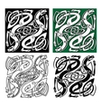 Celtic dragons with tribal entwined wings vector image