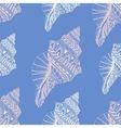 Zentangle stylized sea cockleshell seamless vector image vector image