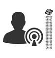 podcast creator icon with professional bonus vector image