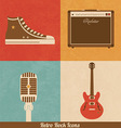 Retro Rock Icons vector image