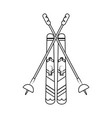 snow skis equipment vector image