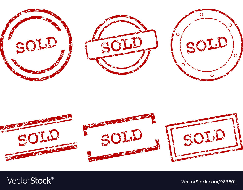 Sold stamps vector