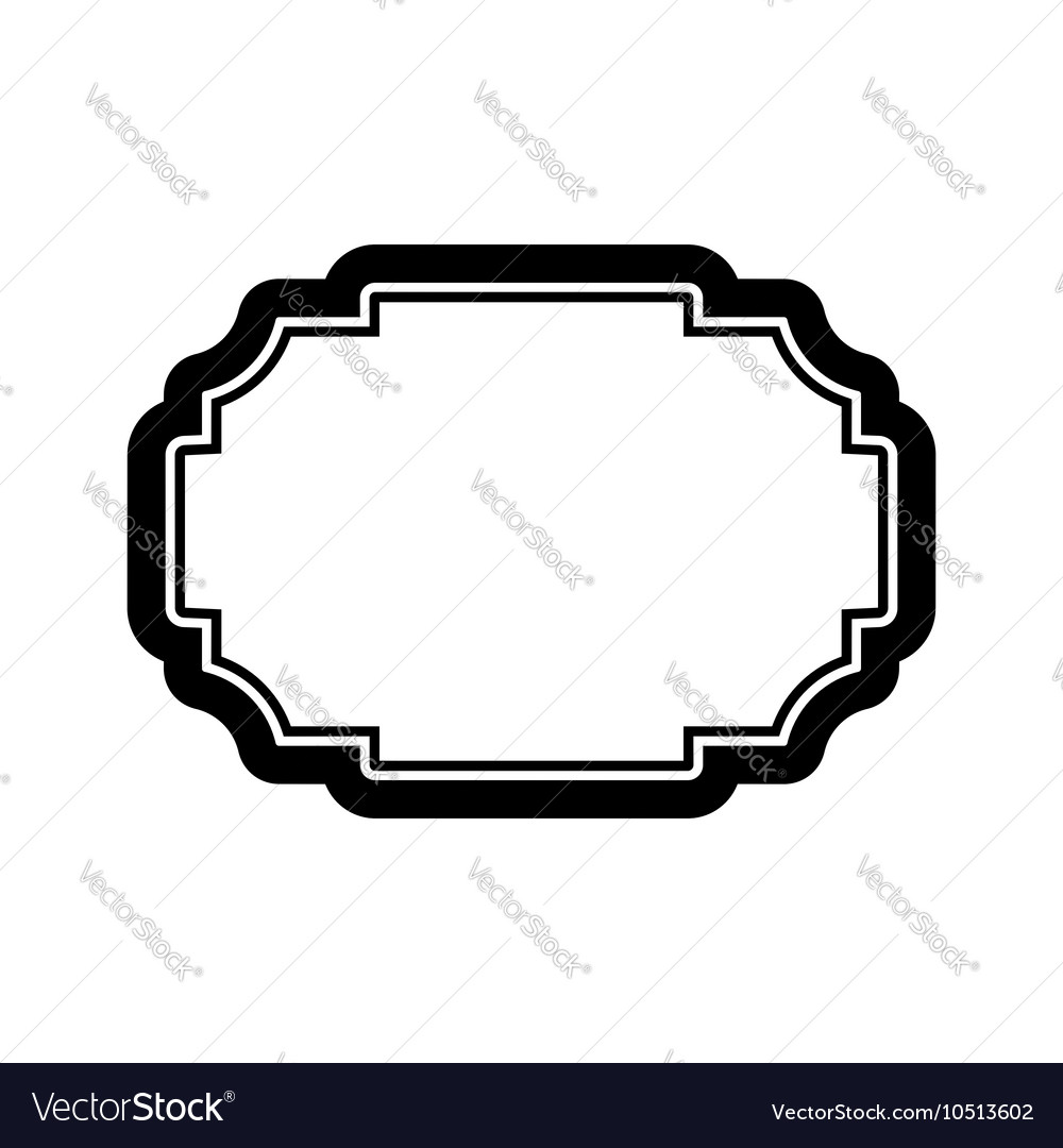 Black frame picture beautiful design simple vector