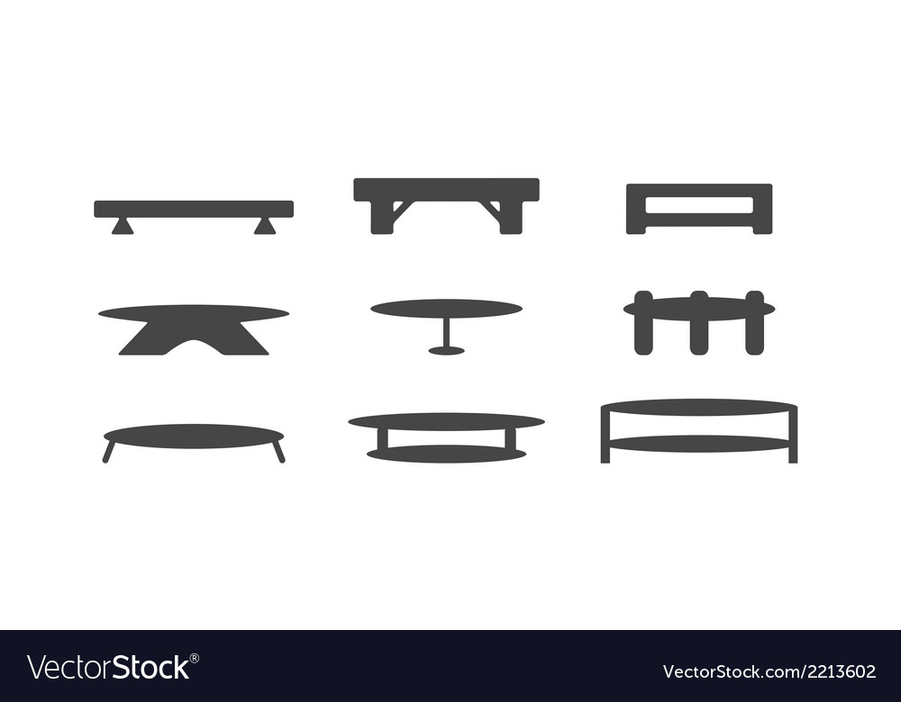 Table design isolated on white background vector