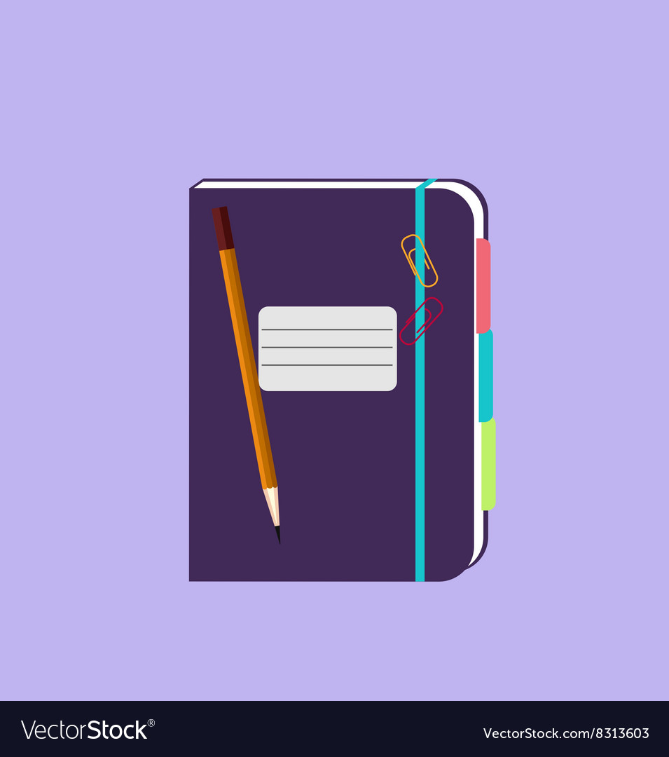Daily notepad isolated design flat vector