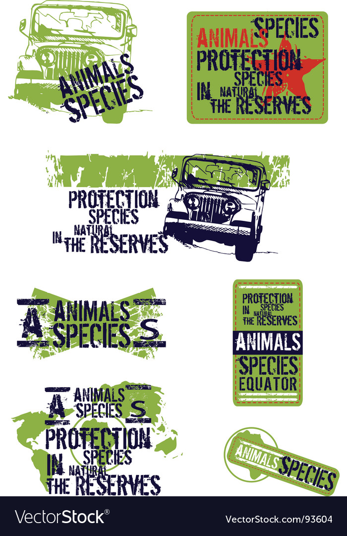 Animal species vector