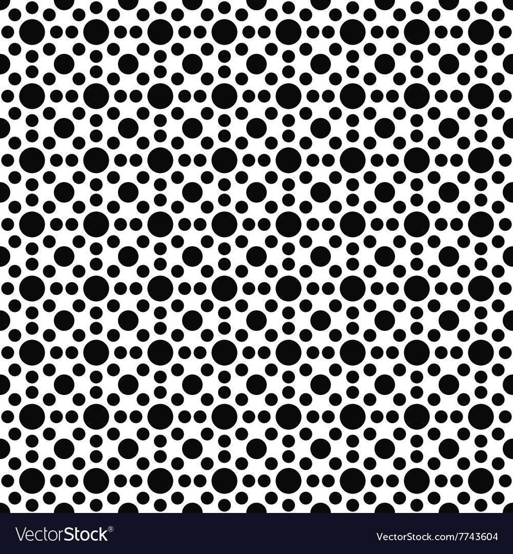 Black and white seamless circle pattern vector
