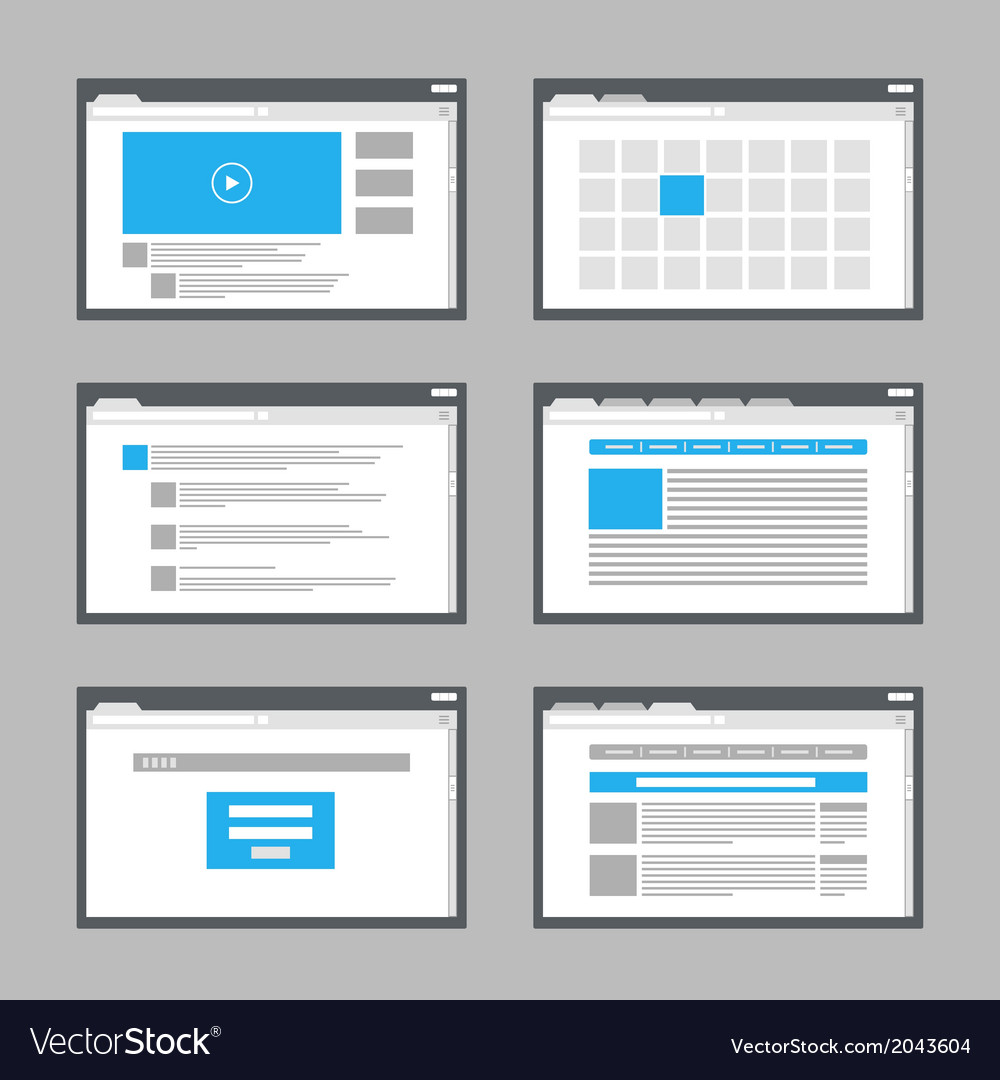 Website vector