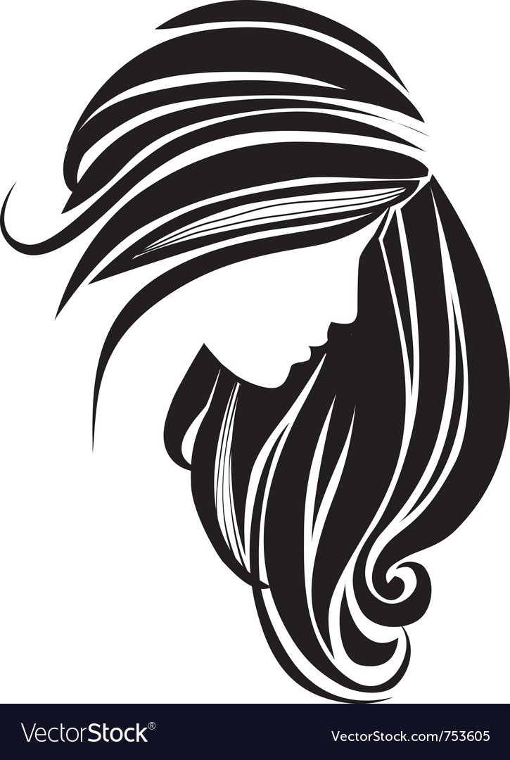 Hair icon vector