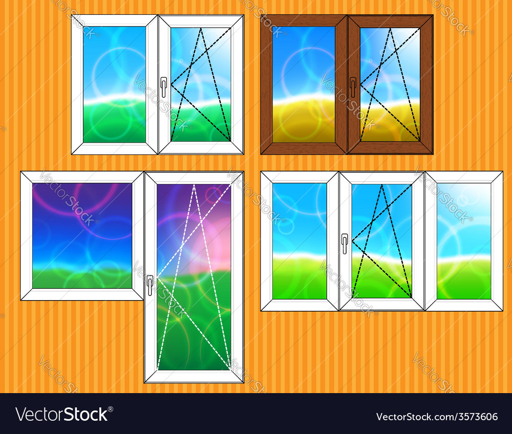 Set of window templates vector