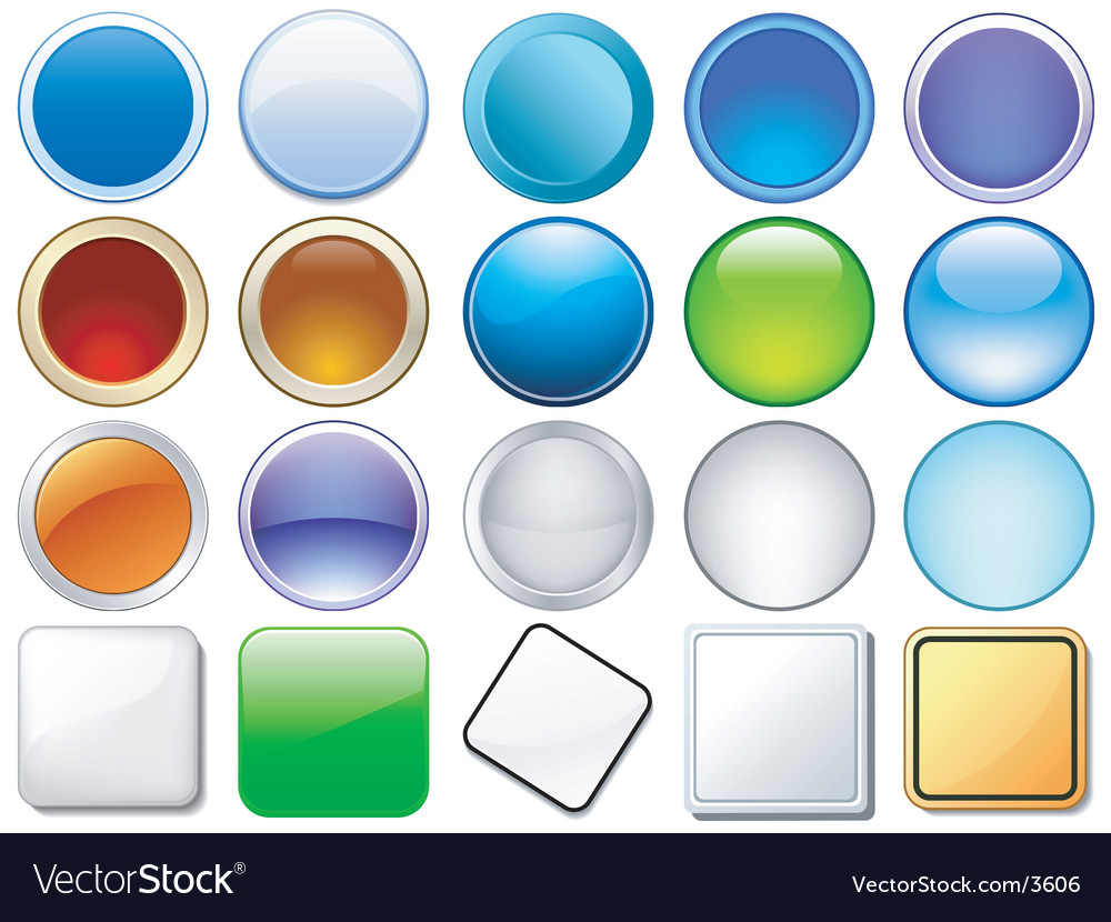 Variety of glossy icons vector