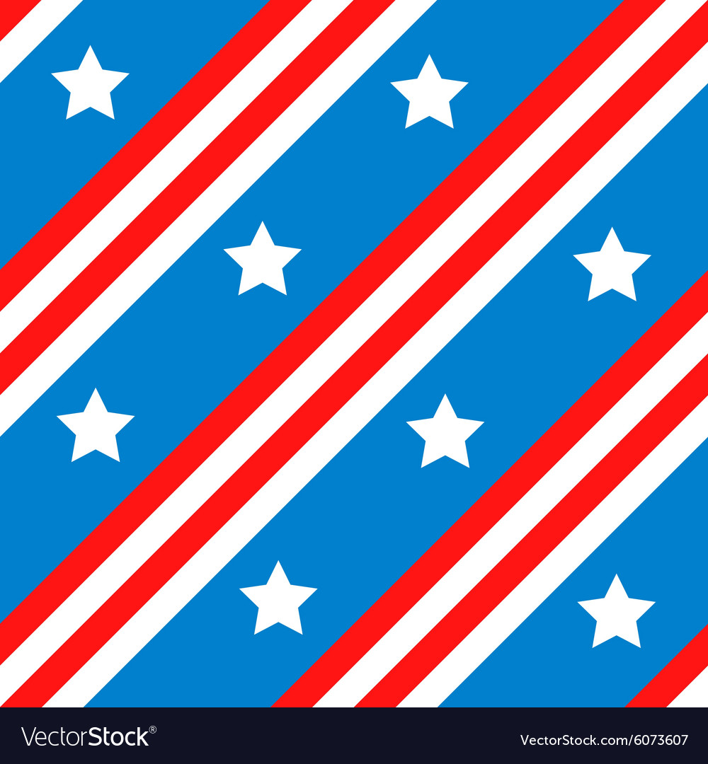 Seamless background with american flag vector